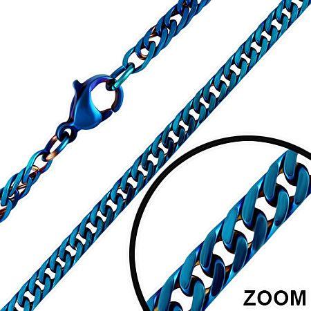 Синяя цепочка из ювелирной стали