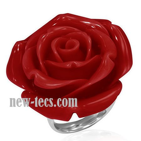 Кольцо Красная Роза