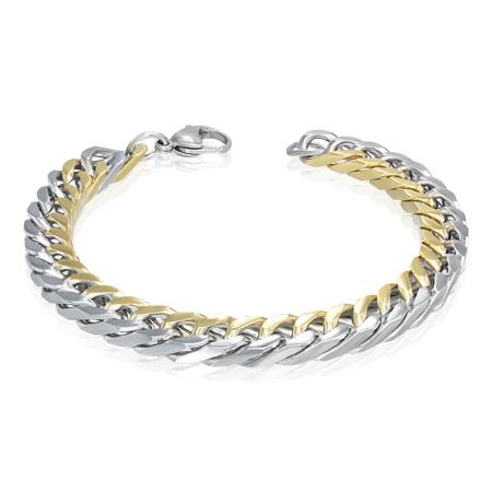 мужские браслеты с золотым напылением