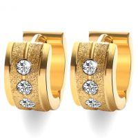Серьги с алмазной крошкой